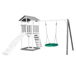 Beach Tower with Summer Nest Swing Grey/white - White Slide