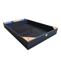 Kelly Sandbox with bins and bench Anthracite/brown