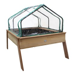 Linda Growing Table with greenhouse Brown