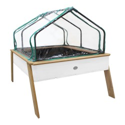 Linda Growing Table with greenhouse Brown/white