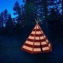 Teepee Tent Lumo (red)