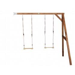 Double swing wall mount (brown)