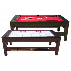 Reverso pool and air hockey table