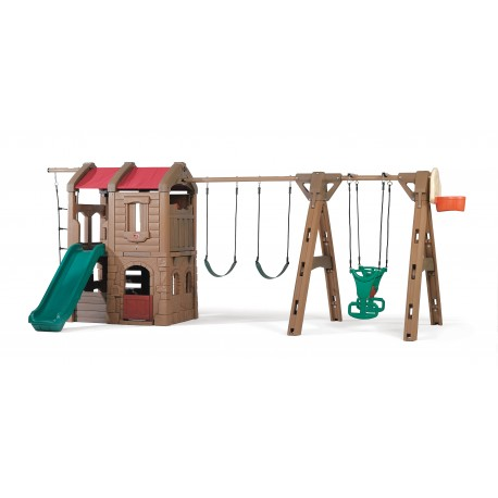 Naturally Playful Adventure Lodge Play Center w/Glider