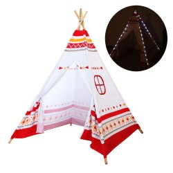 LED Teepee Tent Red / white