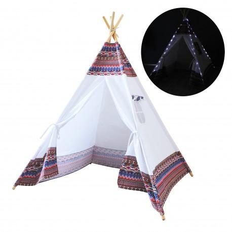 LED Teepee Tent Multicolour / white