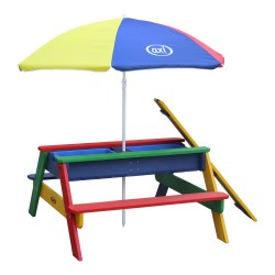 Nick Sand & Water Picnic Table Rainbow - Umbrella Rainbow
