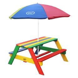Nick Picnic Table Rainbow - Umbrella Rainbow