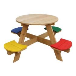 UFO Picnic Table round Rainbow