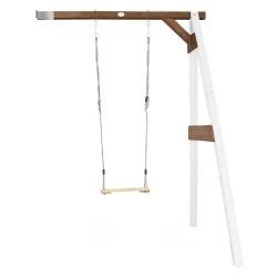 Single Swing Wall Mount White/brown