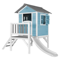 Lodge XL Playhouse Caribbean Blue - White Slide
