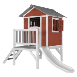 Lodge XL Playhouse Scandinavian Red - White Slide