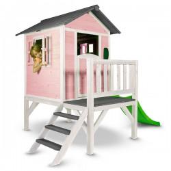 Speelhuis Lodge XL (roze-wit)