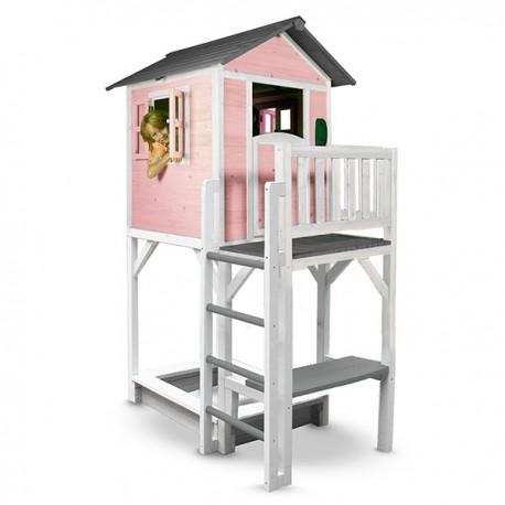 Playhouse Lodge XXL Plus (pink/white)