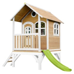 Tom Playhouse Brown/white with Lime green Slide