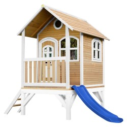 Tom Playhouse Brown/white with Blue Slide