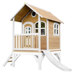 Tom Playhouse Brown/white with White Slide