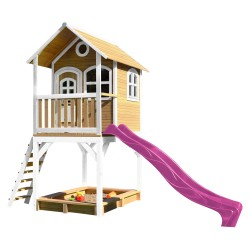 Sarah Playhouse Brown/white with Purple Slide