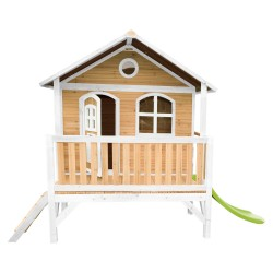 Stef Playhouse Brown/white with Lime green Slide