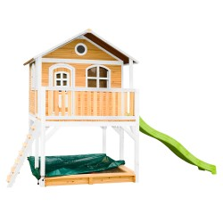 Marc Playhouse Brown/white with Lime green Slide
