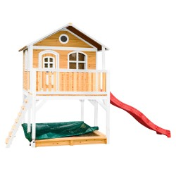 Marc Playhouse Brown/white with Red Slide