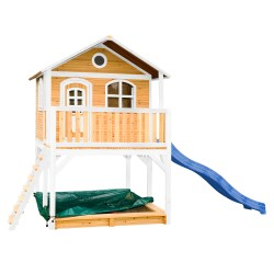 Marc Playhouse Brown/white with Blue Slide