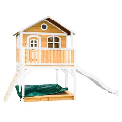 Marc Playhouse Brown/white with White Slide