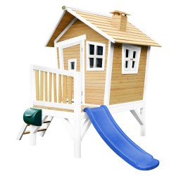 Robin Playhouse Brown/white - Blue slide