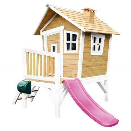 Robin Playhouse Brown/white - Purple slide