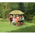 Picnic table with umbrella (natural)