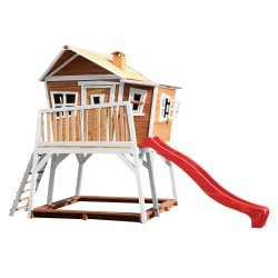 Max Playhouse Brown/white - Red slide