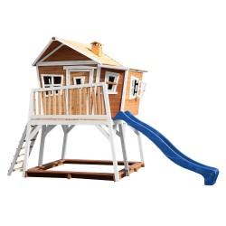 Max Playhouse Brown/white - Blue slide