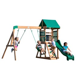 Buckley Hill Play Tower with Swings and Slide