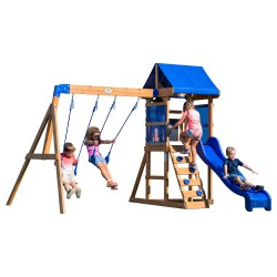 Aurora Play Tower with Swings and Slide