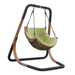 Capri Single Swing Chair Green