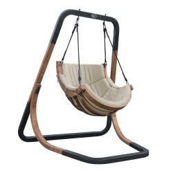 Capri Single Swing Chair Beige