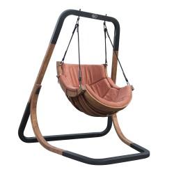 Capri Single Swing Chair Terracotta