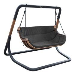 Ibiza Double Swing Chair Black