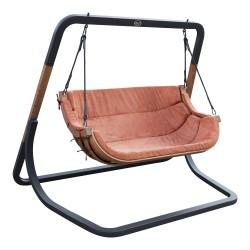 Ibiza Double Swing Chair Terracotta