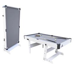 Hustle L folding Pool Table White